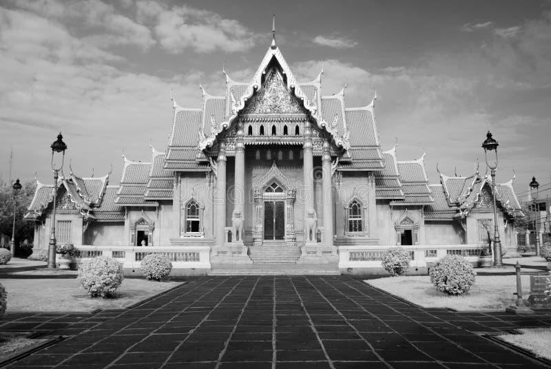Marmurowa świątynia, Wat Benchamabopitr Dusitvanaram Bangkok THAIL obraz royalty free