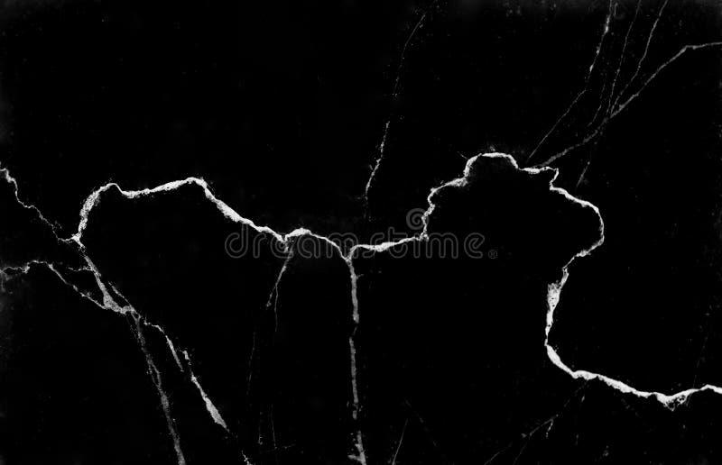 Marmurowa abstrakcjonistyczna tekstura, natury czarny tło z białej linii żyły wzorami obrazy stock