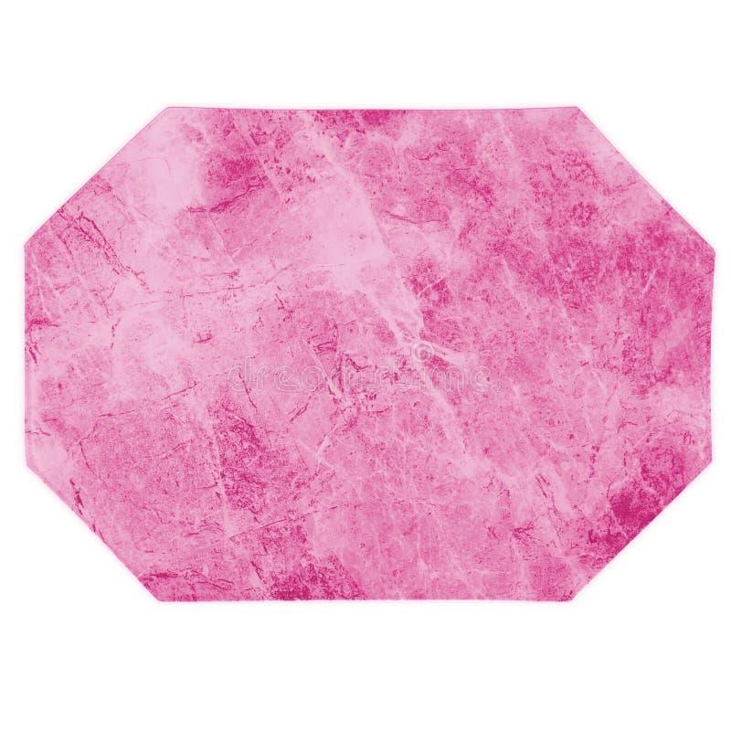 Marmurowa Różowa Kuchenna miejsce mata zdjęcia royalty free