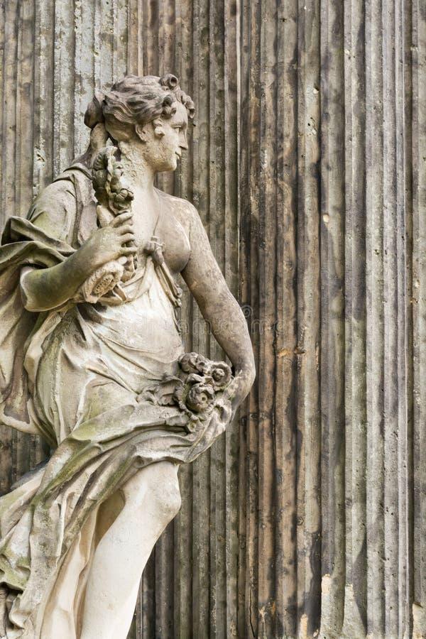 Marmurowa statua w Parkowym Sanssouci, Potsdam, Niemcy obraz royalty free