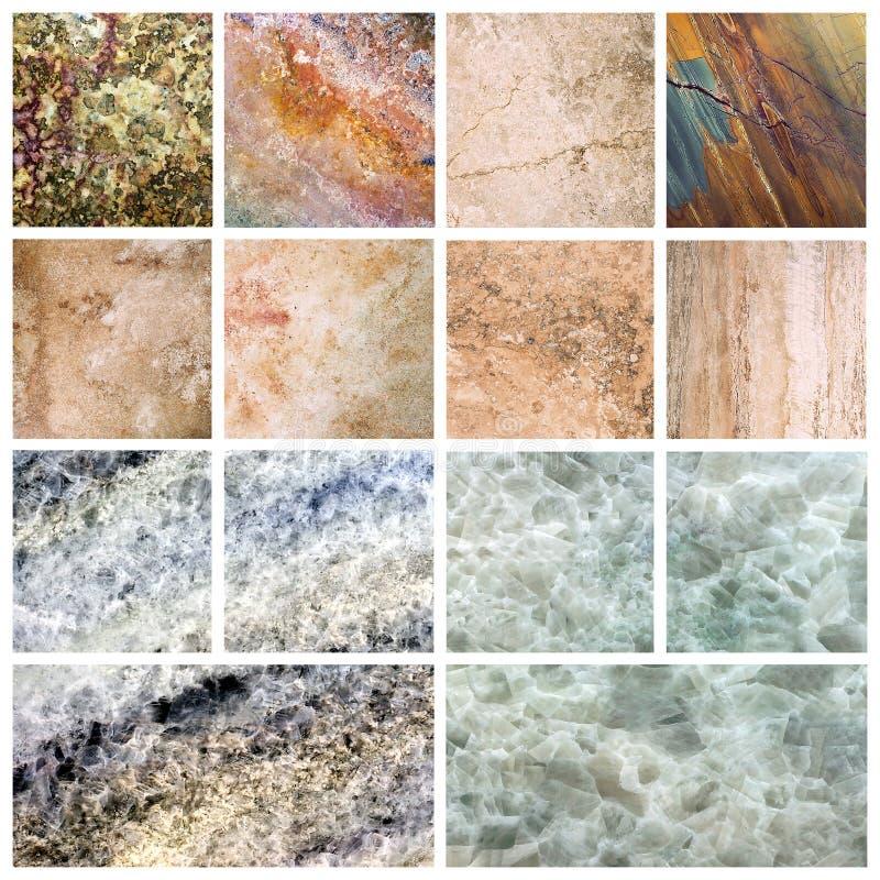 Marmurowa tło setu marmuru tekstura obrazy royalty free