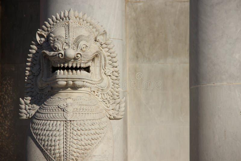 Marmurowe lwa I marmuru ściany obraz stock