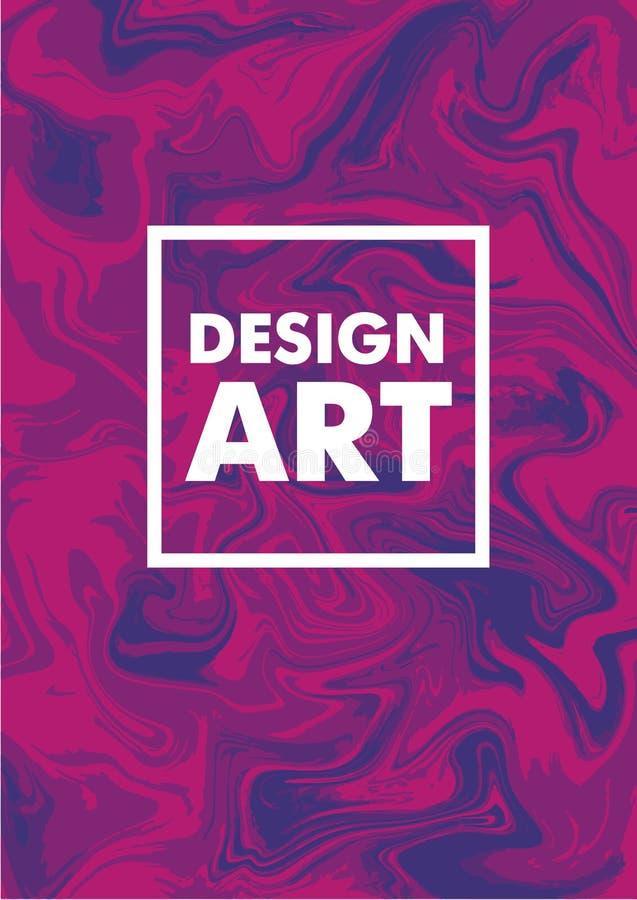Marmurowe tekstur pokrywy kolorowi artystyczni tła Modnego projekta płatowata wektorowa ilustracja ilustracja wektor