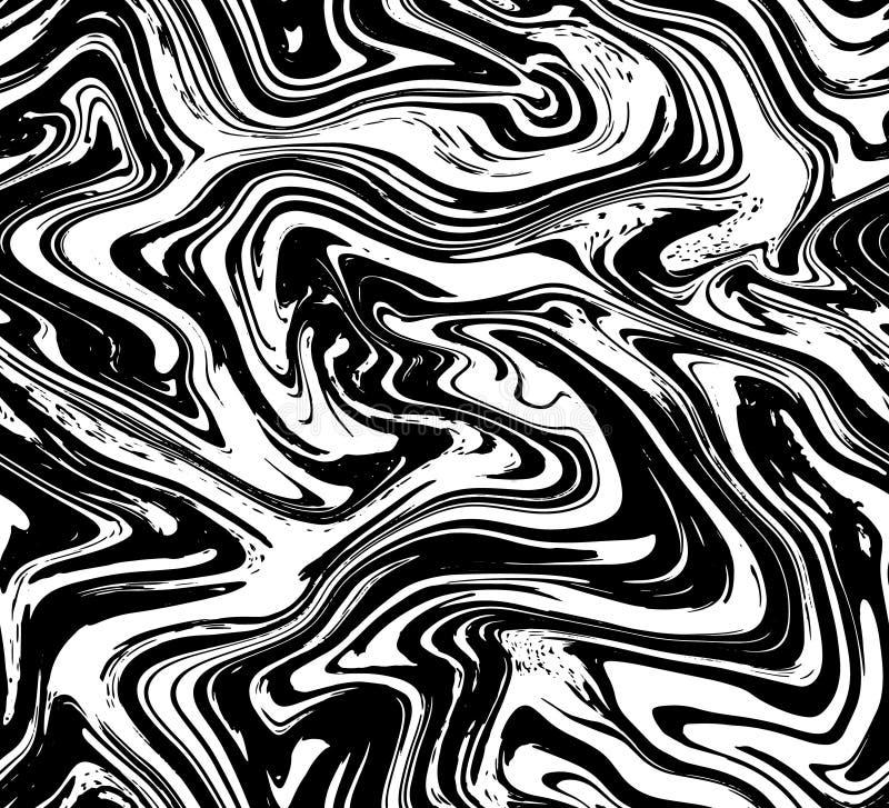 Marmurowej tekstury bezszwowy tło Abstrakcjonistyczny ciekły rzadkopłynny skutka koloru wzór Tekstylna kolorowa bezszwowa wzór po royalty ilustracja