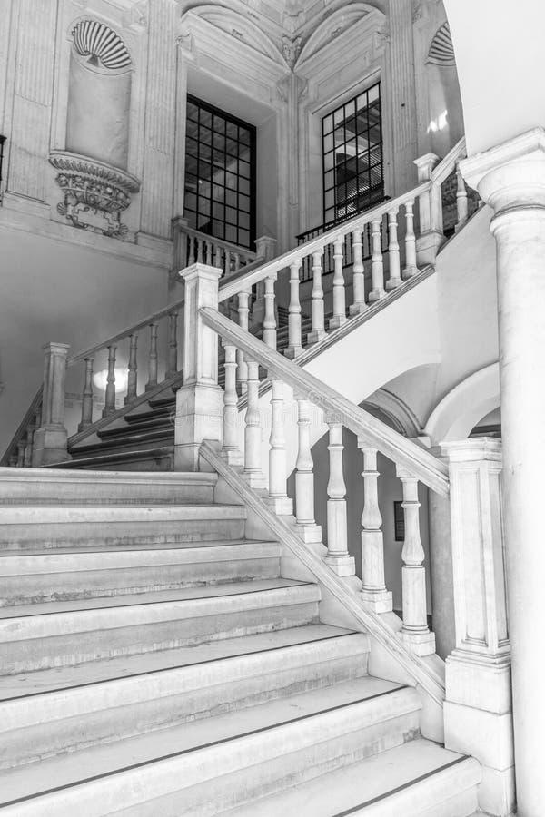 Marmurowi schodki ja obraz royalty free