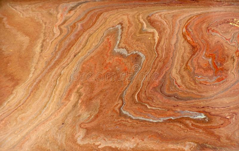 Marmurowy abstrakcjonistyczny akrylowy tło Marmoryzaci grafiki tekstura Agat czochry wzór Złoto proszek obraz royalty free