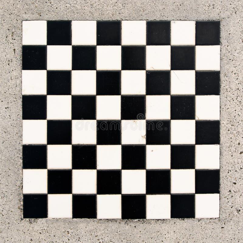 Marmurowy chessboard zdjęcie royalty free