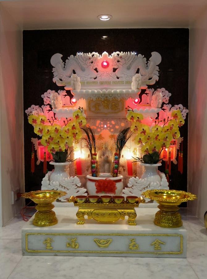 Marmurowy Chiński ducha dom i świeczki światło zdjęcia royalty free