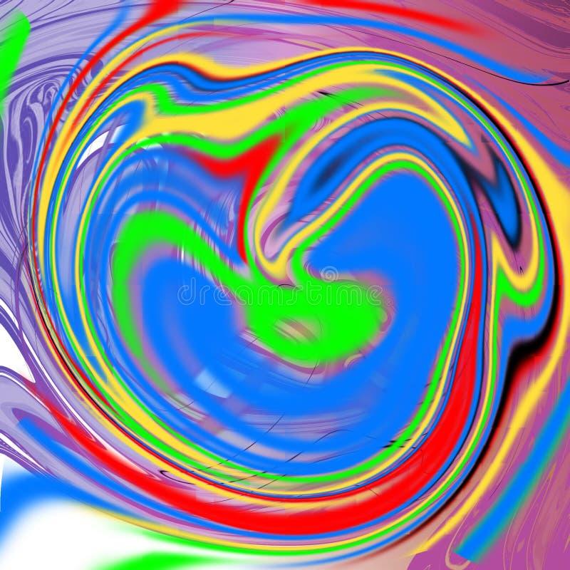 Marmurowy ciekły abstrakcjonistyczny tło z obraz olejny smugami ilustracji