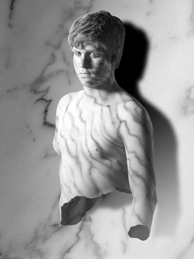 Marmurowy mężczyzna zdjęcia royalty free