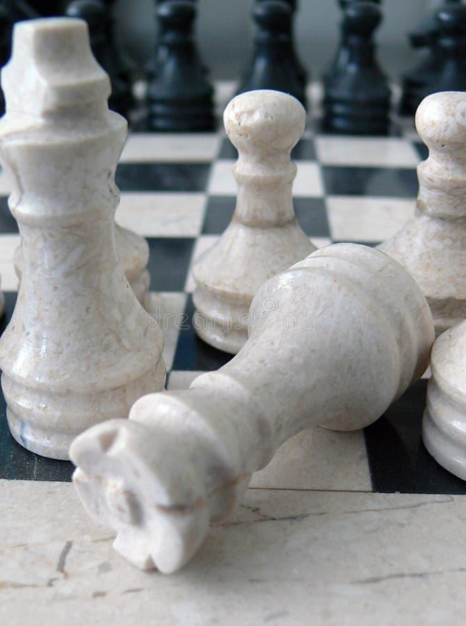 Marmurowy szachy obrazy royalty free