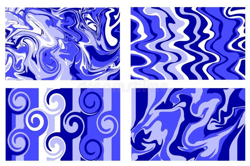 Marmurowy tekstury błękit plusk farby Kolorowy fluid Ja może używać dla plakata, karta, broszurka, zaproszenie, pokrywy książka,  ilustracji