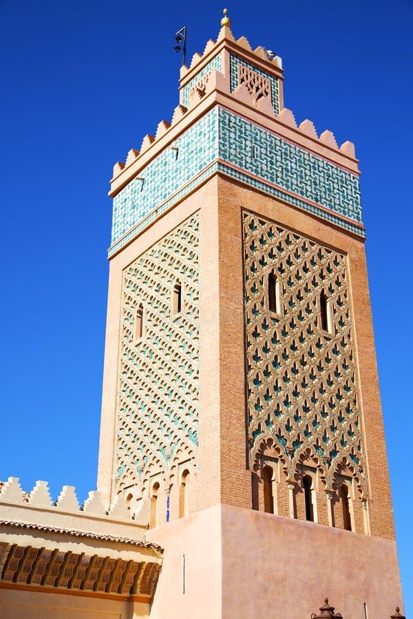 maroc Afrika en de blauwe hemel royalty-vrije stock foto