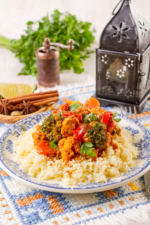 Marocain de couscous photo libre de droits