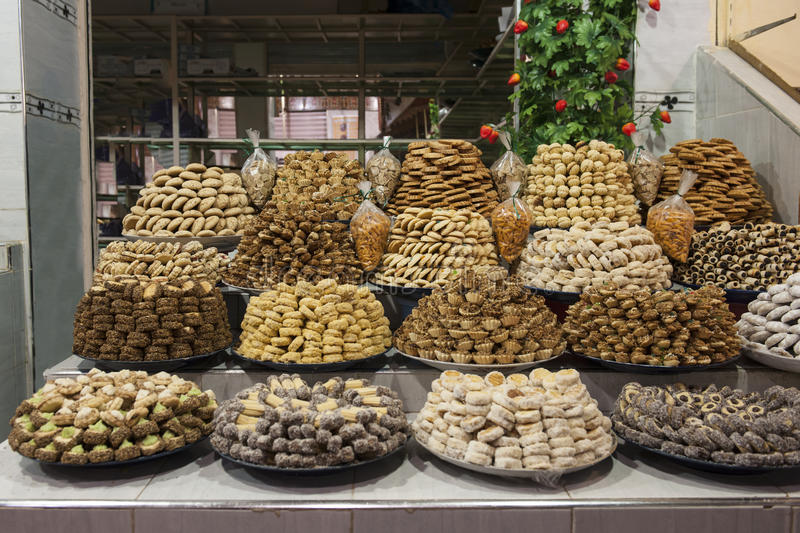Moroccan pastries royalty free stock image