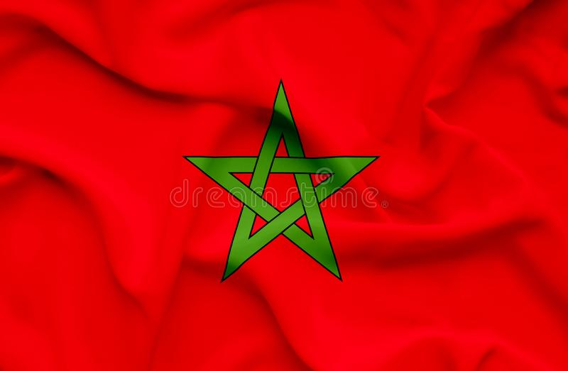 Marocco挥动的旗子 库存例证