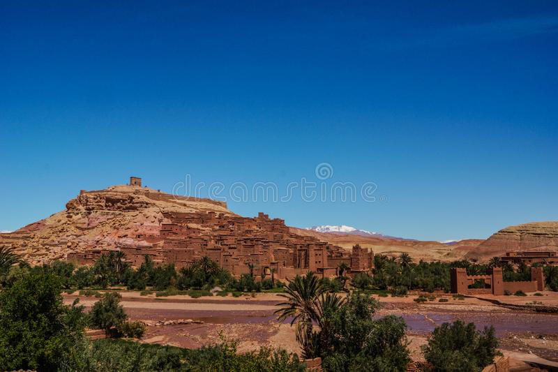 Marocco -沙漠城市Quarzazate 免版税库存照片
