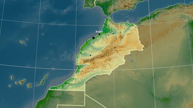 Cartina Fisica Del Marocco.Mappa Fisica Del Marocco Illustrazione Vettoriale Illustrazione Di Atlantico 155756449