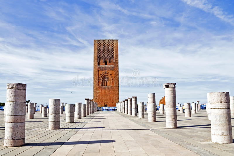 Marocco,Rabat. The Hassan Tower Stock Photography