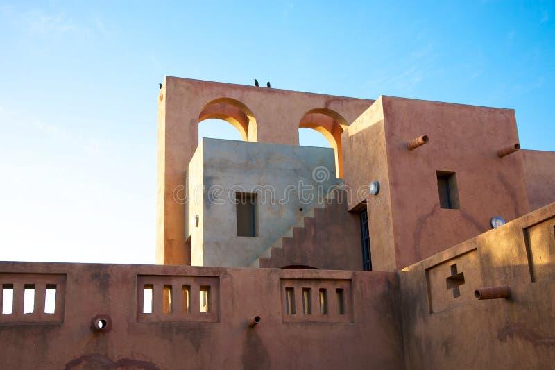 Marockansk arkitektur i Mopti Dogon land fotografering för bildbyråer