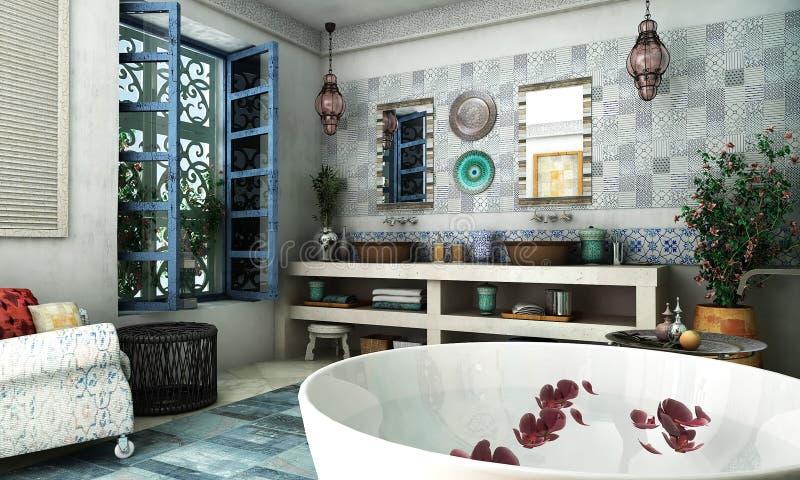 Marockansk badrum royaltyfri foto