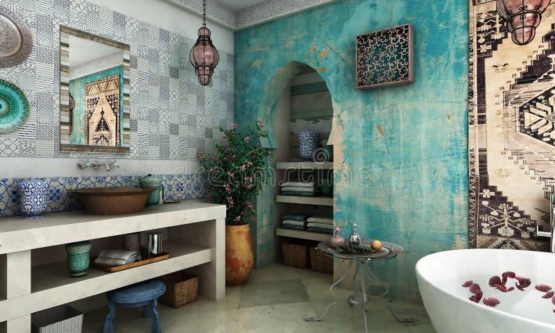 Marockansk badrum arkivbilder