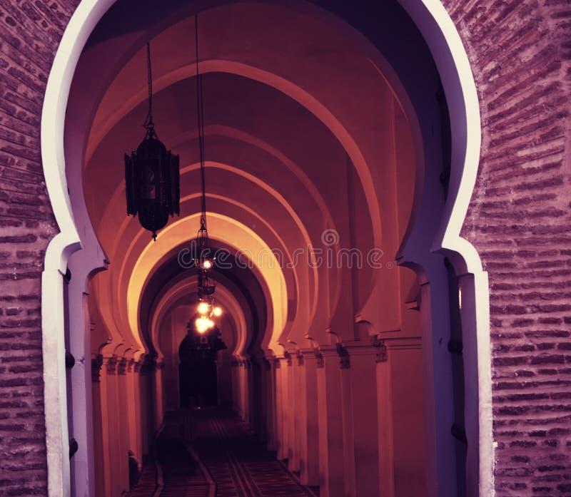 Marockansk dörr arkivbild
