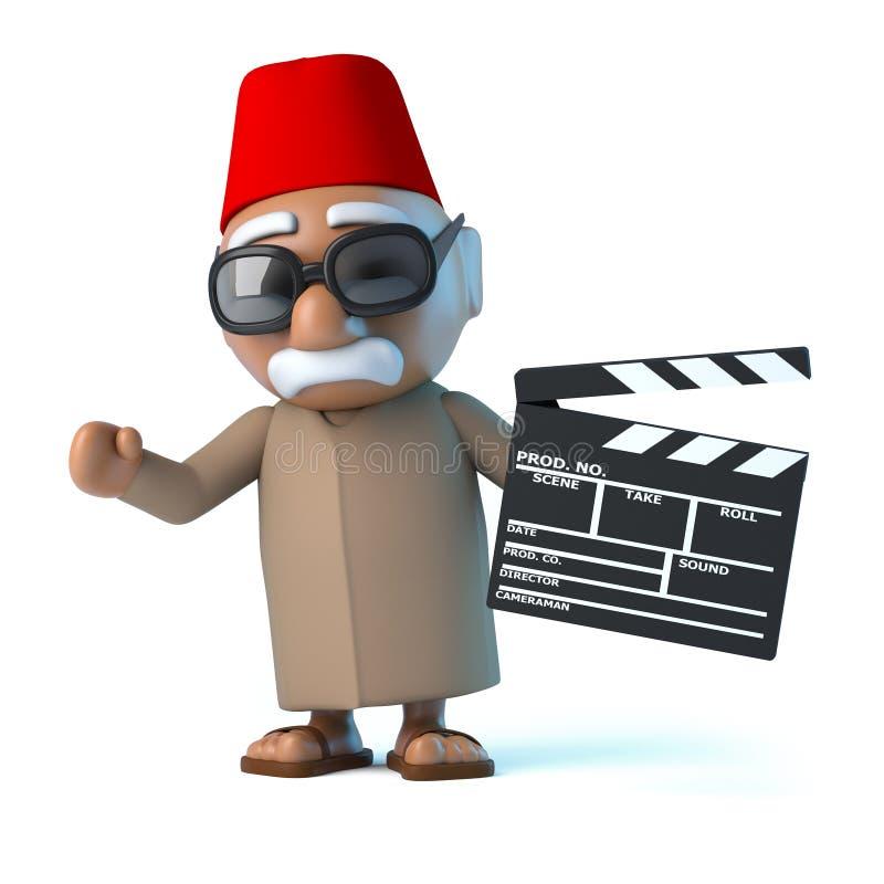 marockansk 3d gör en film vektor illustrationer