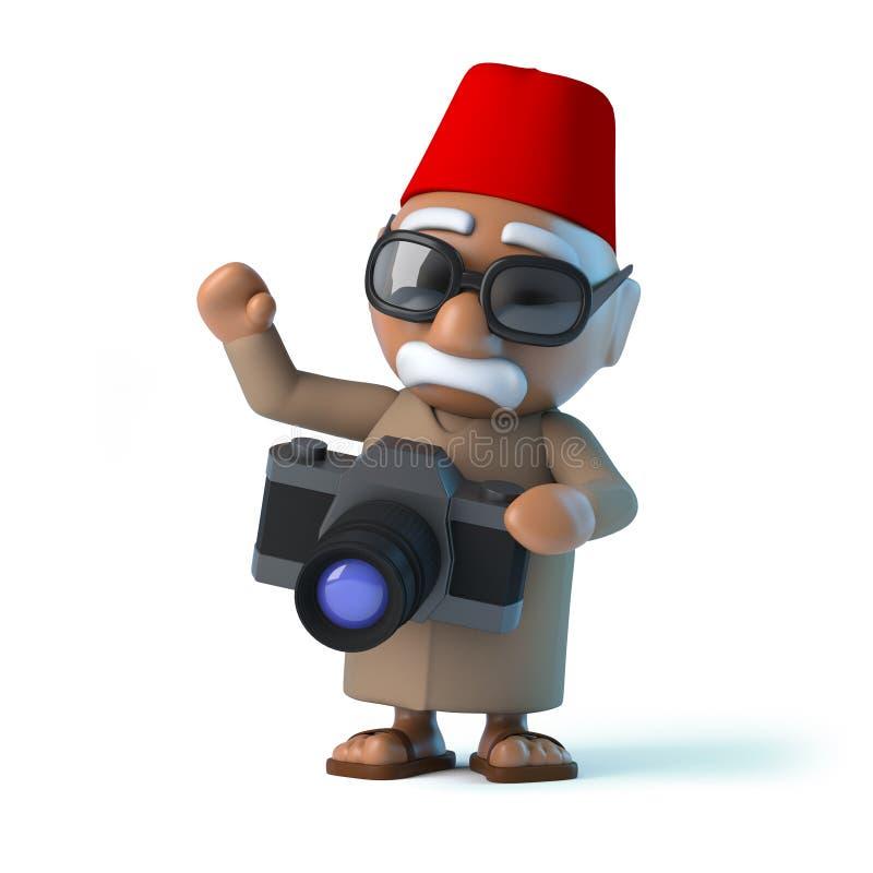 marockansk 3d har en ny kamera royaltyfri illustrationer