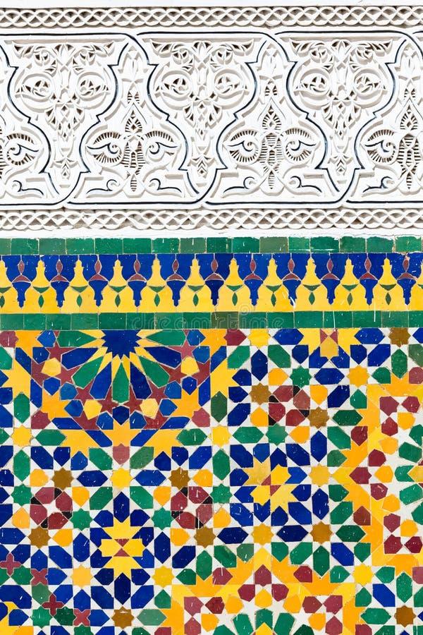 Marockansk garnering arkivfoto