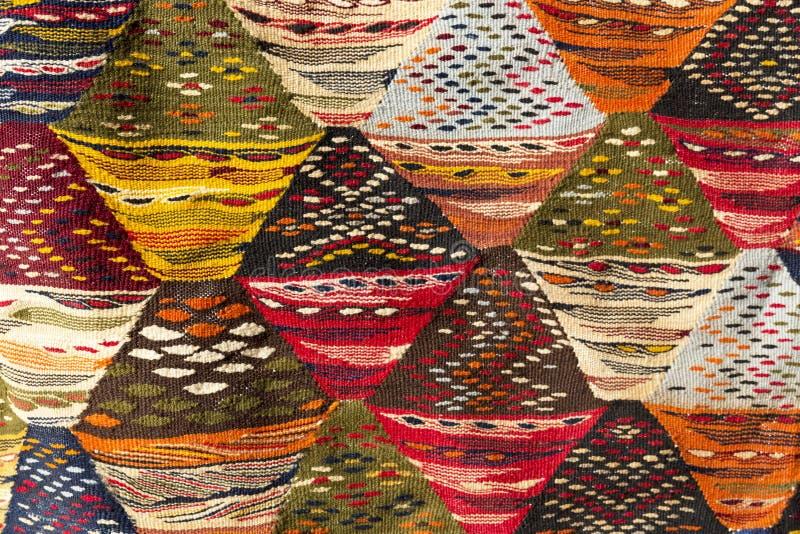 Marockansk matta, closeup arkivfoton