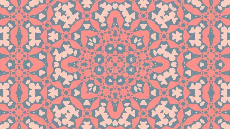 Marockansk prydnad - mjuka färger stock illustrationer