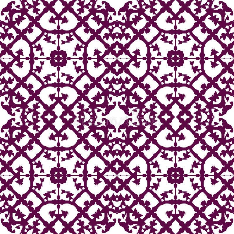 Marockansk sömlös modell - purpurfärgad tracery vektor illustrationer