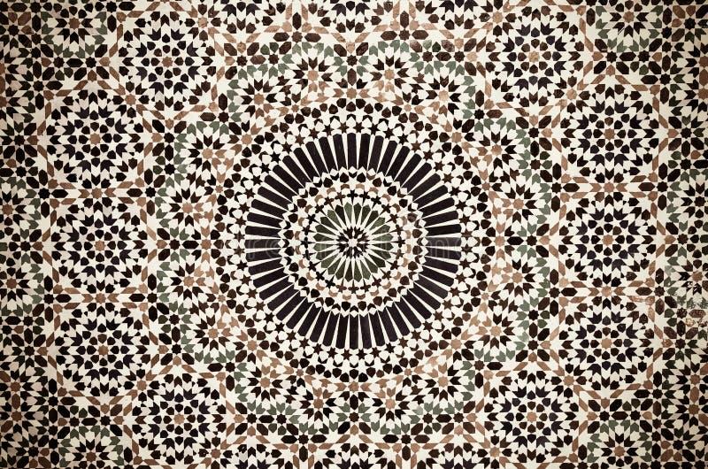 Marockansk tappningtegelplattabakgrund royaltyfria bilder