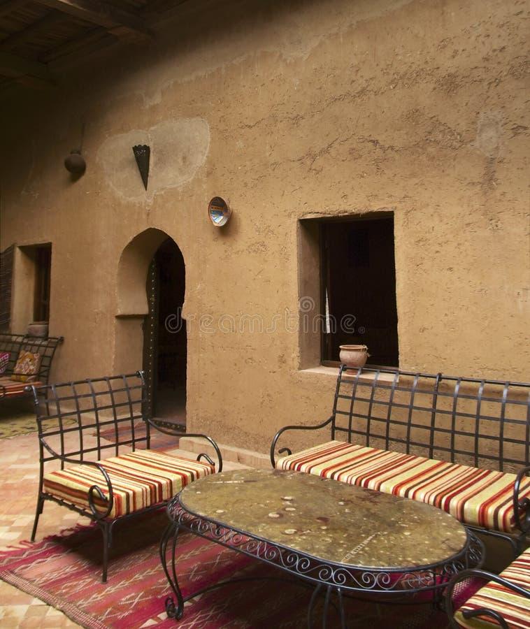 Marockanskt hus fotografering för bildbyråer