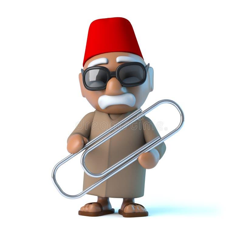 marockanskt innehav 3d en paperclip vektor illustrationer