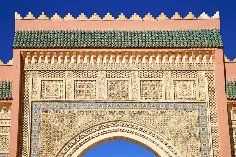 Marocko båge i gamla africa arkivbilder