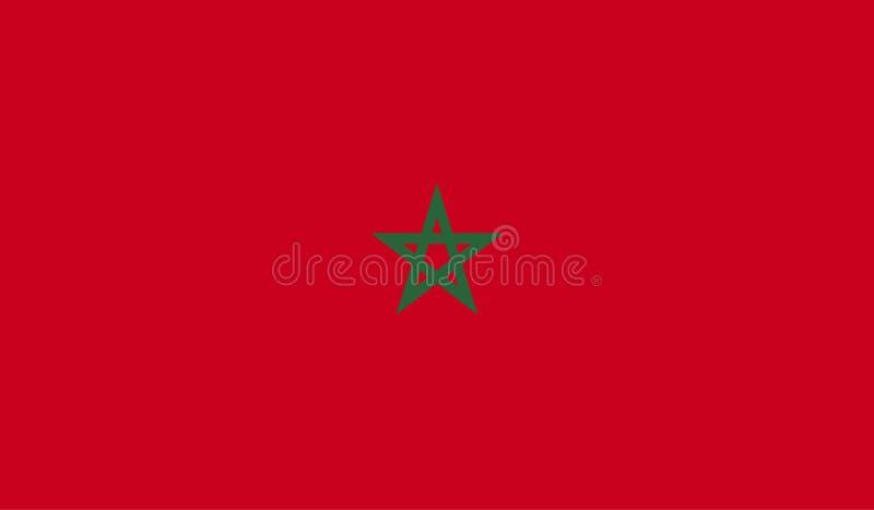 Marocko flaggabild royaltyfri illustrationer