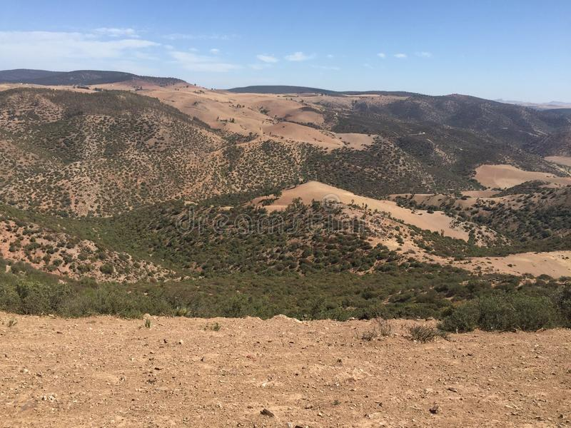 Marocko natur arkivbild