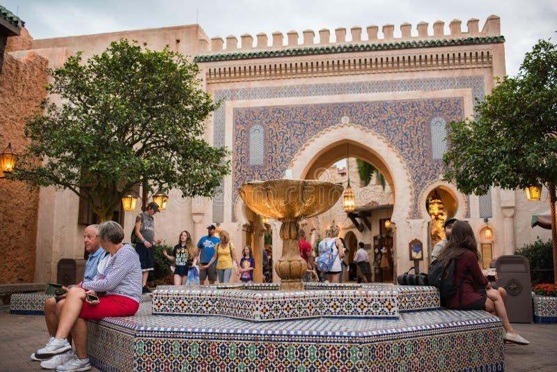 Marocko paviljong på Epcot royaltyfri fotografi