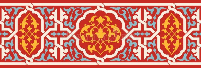 Marocko sömlös gräns Traditionell islamisk design vektor illustrationer