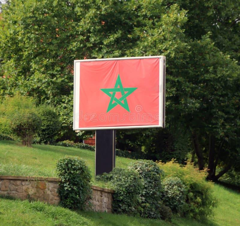 Marokańczyk flaga obraz stock