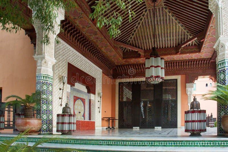Marokańczyk płytki - piękna dekoracja podłoga i ściany zdjęcie stock