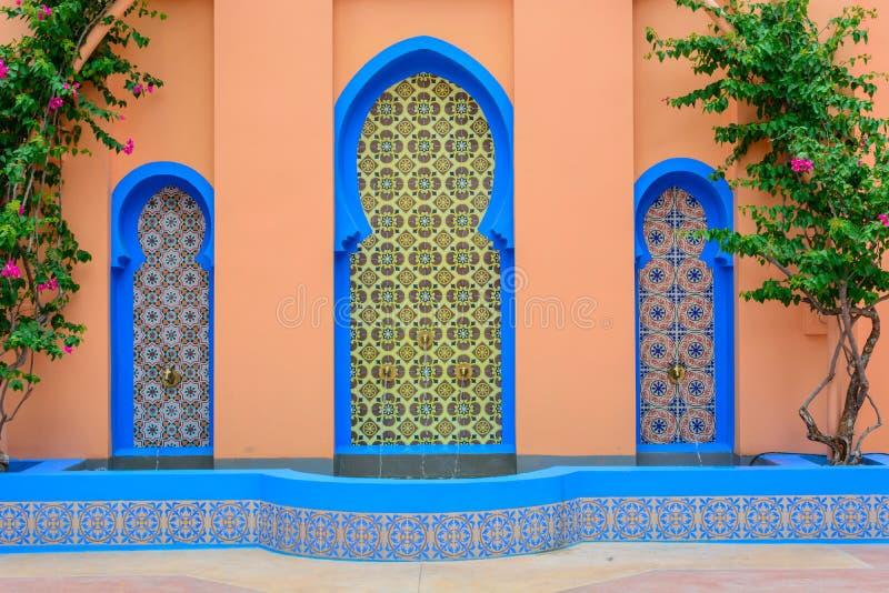 Marokańczyk stylowa fontanna obraz royalty free