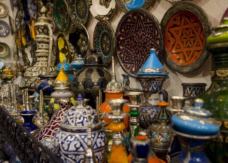 Marokańscy naczynia zdjęcia royalty free