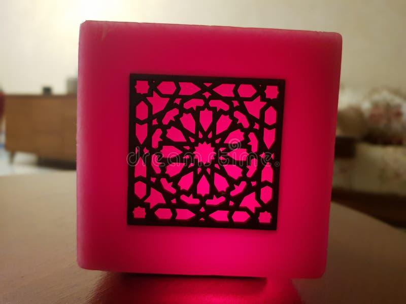 Marokańska sztuki świeczka zdjęcie royalty free