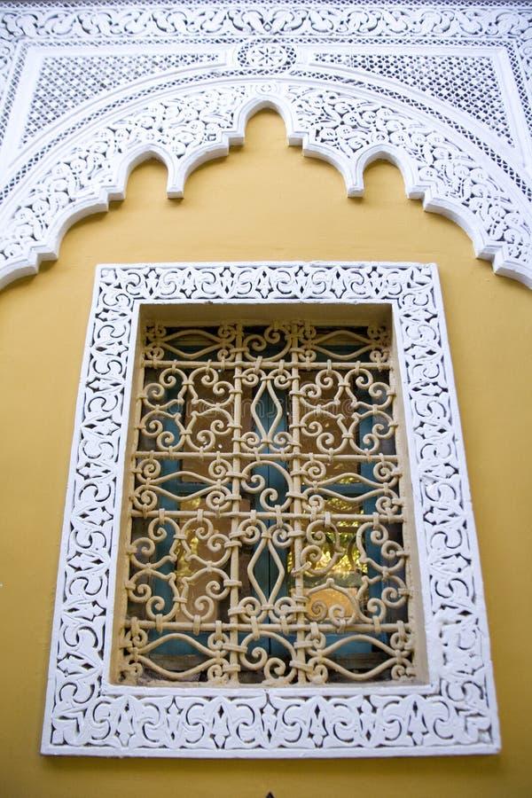 marokański dekoracyjny okno fotografia stock