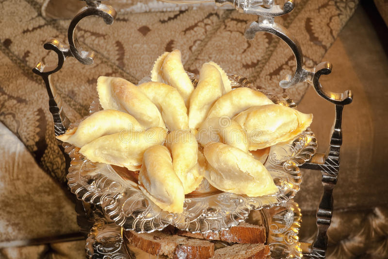 Marokański Patisserie Cornes De Gazela. obrazy royalty free