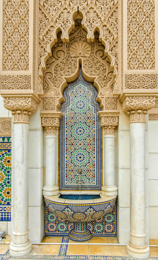 Marokański pawilon w Putrajaya Malezja zdjęcia stock