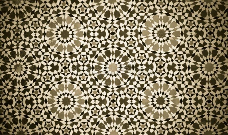 Marokański rocznik płytki tło zdjęcie stock
